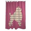One Bella Casa Poodle Shower Curtain