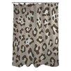 One Bella Casa Leopard Print Nougat Shower Curtain