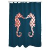 One Bella Casa BFF Seahorse Shower Curtain