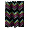 One Bella Casa Ziggy Triangle Shower Curtain