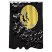 One Bella Casa Flock of Bats Moon Shower Curtain