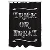 One Bella Casa Trick or Treat Tattoo Letters Shower Curtain