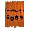 One Bella Casa Pumpkins On a Branch Shower Curtain