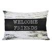 One Bella Casa Welcome Friends Birch Lumbar Pillow