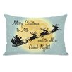 One Bella Casa Merry Christmas To All Lumbar Pillow