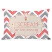 One Bella Casa I Scream for Ice Cream Chevron Lumbar Pillow