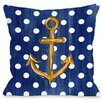One Bella Casa Anchor Dots Throw Pillow