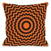 One Bella Casa Halloween Chevrons Throw Pillow
