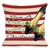 One Bella Casa Holly Jolly Christmas Shoes Throw Pillow