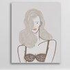 One Bella Casa Blonde in Bra by Michael Sanderson Graphic Art on Canvas