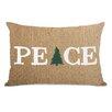 One Bella Casa Peace Tree Paper Lumbar Pillow