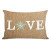 One Bella Casa Love Snowflake Paper Lumbar Pillow