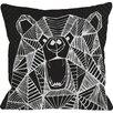 One Bella Casa Geo Bear Throw Pillow