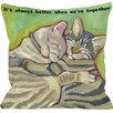 One Bella Casa Doggy Décor Better Together Throw Pillow
