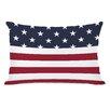 One Bella Casa American Flag  Section Fleece Lumbar Pillow