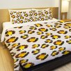 One Bella Casa Leopard Spots Watercolor Lightweight Duvet Cover
