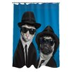 One Bella Casa Pets Rock Brothers Shower Curtain