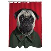 One Bella Casa Pets Rock China Shower Curtain