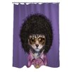 One Bella Casa Pets Rock Disco Shower Curtain