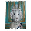One Bella Casa Pets Rock HRH Shower Curtain