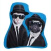 One Bella Casa Pets Rock Brothers Shaped Throw Pillow