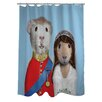 One Bella Casa Pets Rock Mr & Mrs Shower Curtain
