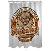 One Bella Casa Doggy Decor Stubbies Shower Curtain