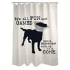 One Bella Casa Doggy Decor All Fun and Games Shower Curtain