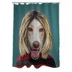 One Bella Casa Pets Rock Grunge Shower Curtain