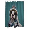 One Bella Casa Pets Rock Queen Shower Curtain
