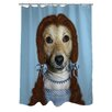One Bella Casa Pets Rock Ruby Shower Curtain