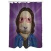 One Bella Casa Pets Rock Savior Shower Curtain