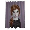 One Bella Casa Pets Rock Songbird Shower Curtain