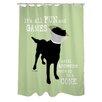 One Bella Casa Doggy Decor Fun and Games Shower Curtain