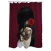 One Bella Casa Pets Rock Tattoo Shower Curtain
