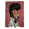 One Bella Casa Pets Rock Vegas Shower Curtain
