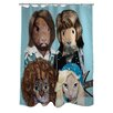 One Bella Casa Pets Rock Waterloo Shower Curtain