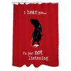 One Bella Casa Doggy Decor Not Listening Shower Curtain