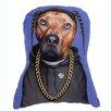 One Bella Casa Pets Rock Rap Shaped Throw Pillow