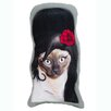 One Bella Casa Pets Rock Tattoo Shaped Throw Pillow