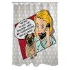 One Bella Casa Doggy Decor Mr. Puddingstone Shower Curtain