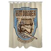 One Bella Casa Doggy Decor Hot Dogger Shower Curtain