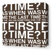 Inhabit Stretched First Time Textual Art on Wrapped Canvas in White