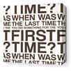 Inhabit Stretched First Time Textual Art on Wrapped Canvas in Brown