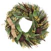 Urban Florals Autumn Caramel and Sage Harvest Wreath