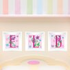 Mona Melisa Designs 3 Piece Butterfly Letters Picture Frame Wall Decal