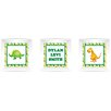 Mona Melisa Designs 3 Piece Dinosaur Picture Frame Wall Decal