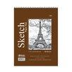 Bazic Top Bound Spiral Premium Sketch Pad (Set of 48)