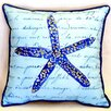 "Betsy Drake Interiors Starfish 22"" Indoor/Outdoor Throw Pillow"