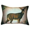 Betsy Drake Interiors Lodge Deer in Snow Indoor/Outdoor Lumbar Pillow